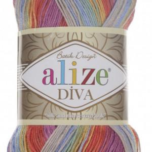 Fir de tricotat sau crosetat - Fir microfibra ALIZE DIVA BATIK DEGRADE 3242