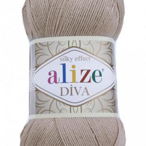 Fir de tricotat sau crosetat - Fir microfibra ALIZE DIVA BEJ 167