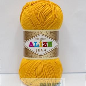 Fir de tricotat sau crosetat - Fir microfibra ALIZE DIVA GALBEN 488