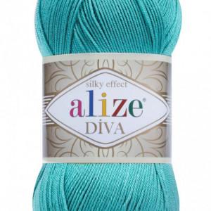 Fir de tricotat sau crosetat - Fir microfibra ALIZE DIVA TURQUAZ 376