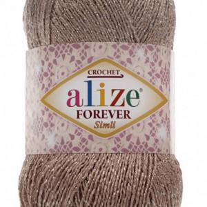 Fir de tricotat sau crosetat - Fir microfibra ALIZE FOREVER SIMLI BEJ 167