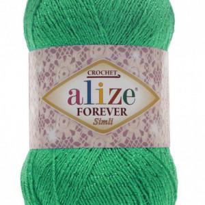 Fir de tricotat sau crosetat - Fir microfibra ALIZE FOREVER SIMLI VERDE 328