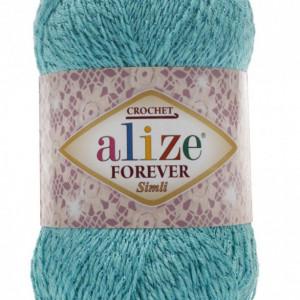 Fir de tricotat sau crosetat - Fir microfibra ALIZE FOREVER SIMLI TURQUAZ 376