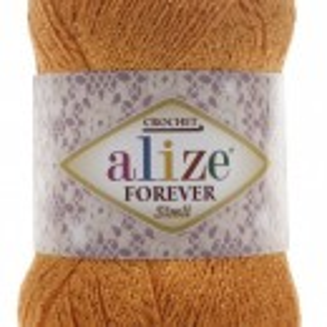 Fir de tricotat sau crosetat - Fir microfibra ALIZE FOREVER SIMLI PORTOCALIU 83