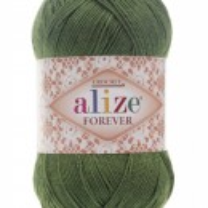 Fir de tricotat sau crosetat - Fir microfibra ALIZE FOREVER VERDE 35