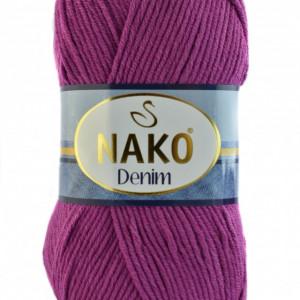 Fir de tricotat sau crosetat - FIR NAKO DENIM MAGENTA COD 6958