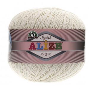 Fir de tricotat sau crosetat - Fire Alize Aura - Cream - 62