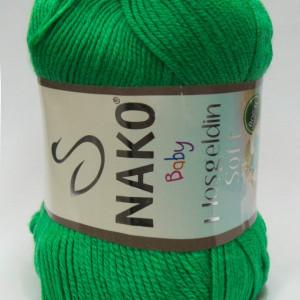 Fir de tricotat sau crosetat - Fire amestec BAMBUS + POLIAMIDA NAKO Hoşgeldin Soft Verde 6739