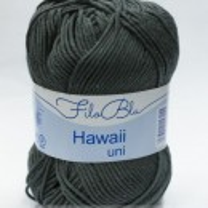 Fir de tricotat sau crosetat - Fire amestec Bumbac 100% GRUNDL HAWAII UNI - GRI - 10