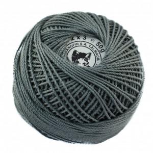 Fir de tricotat sau crosetat - Fire Bumbac 100% ANGELICA ROMANOFIR BOBINA GRI 1284