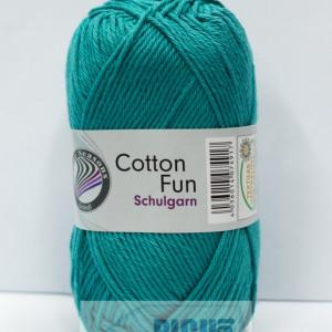 Fir de tricotat sau crosetat - Fire Bumbac 100% GRUNDL COTTON FUN TURQUAZ 24