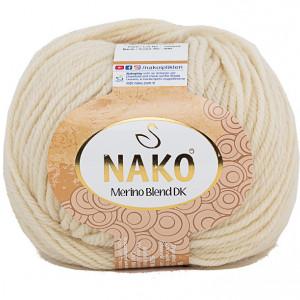 Fir de tricotat sau crosetat - Fire din lana 100% Nako Merino Blend DK - CREAM COD 300