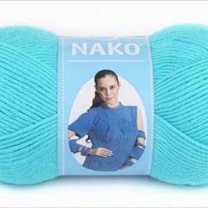 Fir de tricotat sau crosetat - Fire Nako SATEN TURCOAZ 3323