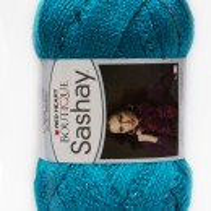 Fir de tricotat sau crosetat - Fire pretricotate esarfa SASHAY albastru S 1502