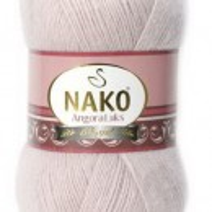Fir de tricotat sau crosetat - Fire tip mohair acril NAKO ANGORA LUKS ROZ 318