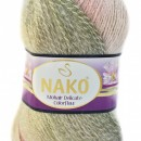 Fir de tricotat sau crosetat - Fire tip mohair acril NAKO MOHAIR DELICATE COLORFLOW DEGRADE 28091