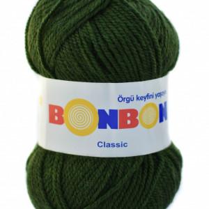 Fir de tricotat sau crosetat - Fire tip mohair din acril BONBON CLASIC VERDE 98579
