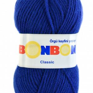 Fir de tricotat sau crosetat - Fire tip mohair din acril BONBON CLASIC ALBASTRU 98488