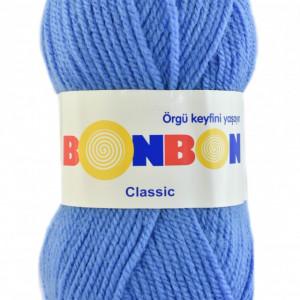 Fir de tricotat sau crosetat - Fire tip mohair din acril BONBON CLASIC BLEO 98236