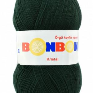 Fir de tricotat sau crosetat - Fire tip mohair din acril BONBON KRISTAL VERDE 98321