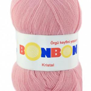 Fir de tricotat sau crosetat - Fire tip mohair din acril BONBON KRISTAL roz 98221