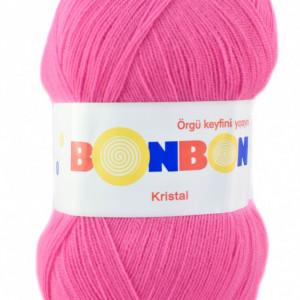 Fir de tricotat sau crosetat - Fire tip mohair din acril BONBON KRISTAL roz 98240