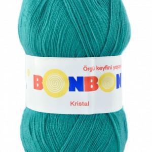 Fir de tricotat sau crosetat - Fire tip mohair din acril BONBON KRISTAL VERDE 98394