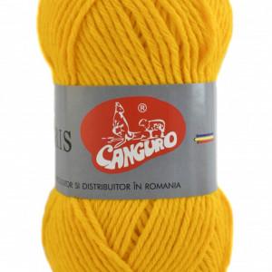 Fir de tricotat sau crosetat - Fire tip mohair din acril CANGURO - TRIS GALBEN 312