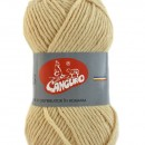 Fir de tricotat sau crosetat - Fire tip mohair din acril CANGURO - TRIS CREAM 396
