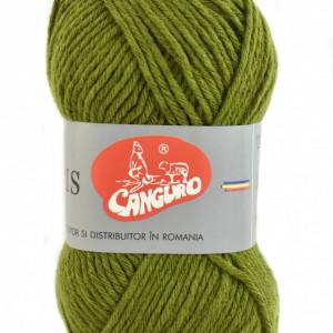 Fir de tricotat sau crosetat - Fire tip mohair din acril CANGURO - TRIS VERDE 397