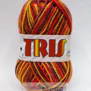 Fir de tricotat sau crosetat - Fire tip mohair din acril CANGURO - TRIS IMPRIMAT DEGRADE 372