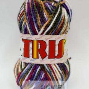 Fir de tricotat sau crosetat - Fire tip mohair din acril CANGURO - TRIS IMPRIMAT DEGRADE 359