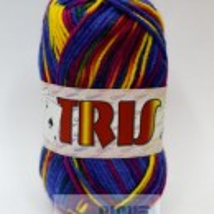 Fir de tricotat sau crosetat - Fire tip mohair din acril CANGURO - TRIS IMPRIMAT DEGRADE 353