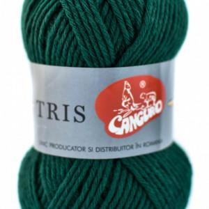 Fir de tricotat sau crosetat - Fire tip mohair din acril CANGURO - TRIS VERDE 327
