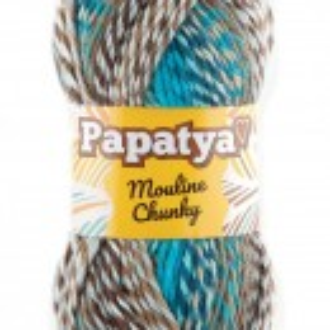 Fir de tricotat sau crosetat - Fire tip mohair din acril Kamgarn Papatya Mouline Chunky Degrade 5981