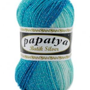 Fir de tricotat sau crosetat - Fire tip mohair din acril Kamgarn Papatya Silver Batik degrade 06