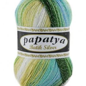 Fir de tricotat sau crosetat - Fire tip mohair din acril Kamgarn Papatya Silver Batik degrade 17