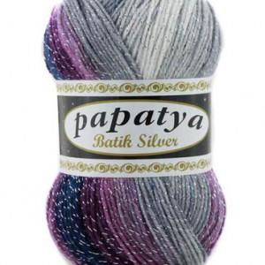 Fir de tricotat sau crosetat - Fire tip mohair din acril Kamgarn Papatya Silver Batik degrade 31