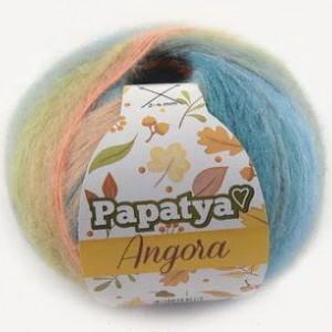 Fir de tricotat sau crosetat - Fire tip mohair din acril Kamgarn Papatya Angora degrade 38