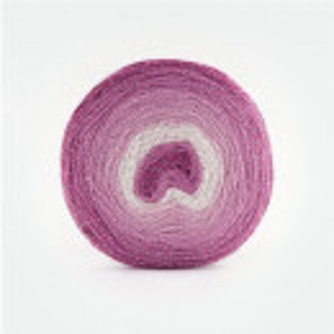 Fir de tricotat sau crosetat - Fire tip mohair din acril Kamgarn Papatya CAKE SILVER degrade 303