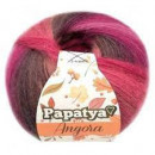 Fir de tricotat sau crosetat - Fire tip mohair din acril Kamgarn Papatya Angora degrade 60