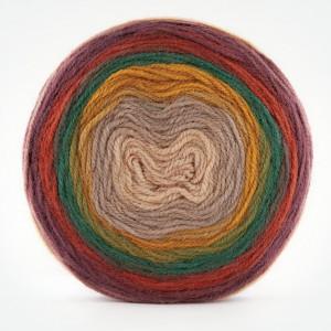 Fir de tricotat sau crosetat - Fire tip mohair din acril Kamgarn Papatya CAKE degrade 215