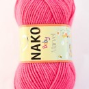 Fir de tricotat sau crosetat - Fire tip mohair din acril Nako Baby MARVEL ROZ 6737