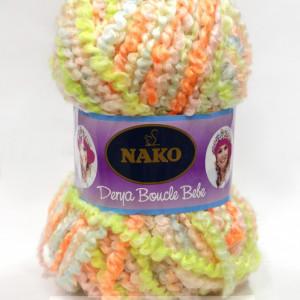 Fir de tricotat sau crosetat - Fire tip mohair din acril NAKO DERYA BOUCLE BEBE degrade 7241