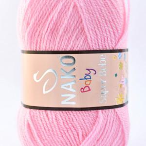 Fir de tricotat sau crosetat - Fire tip mohair din acril Nako SUPER BEBE ROZ 229