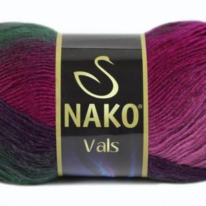 Fir de tricotat sau crosetat - Fire tip mohair din acril premium Nako VALS DEGRADE 85794