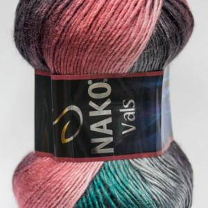Fir de tricotat sau crosetat - Fire tip mohair din acril premium Nako VALS DEGRADE 86383