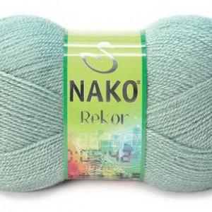 Fir de tricotat sau crosetat - Fire tip mohair din acril premium Nako REKOR GRI 292