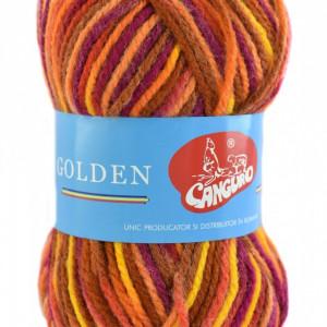 Fir de tricotat sau crosetat - Fire tip mohair din acril si lana GOLDEN WOOL IMPRIMAT - 374