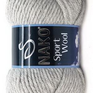 Fir de tricotat sau crosetat - Fire tip mohair din acril si lana Nako Sport Wool GRI 195